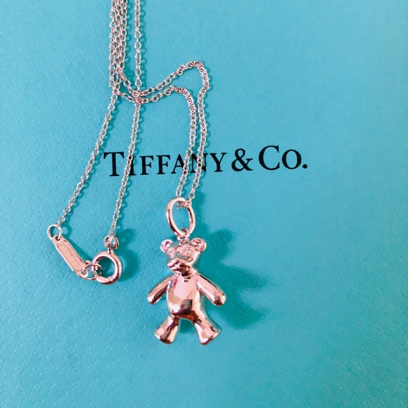 7c12aafdd Tiffany & Co. Jewelry | Tiffany Teddy Bear Charm With Chain | Poshmark